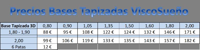 Precios bases para colchones de viscoelastica colchoneria en madrid viscosue o colchones - Precios de colchones hinchables ...